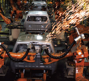 The all-new 2009 Dodge Ram goes through the assembly line at the Warren Truck Assembly Plant