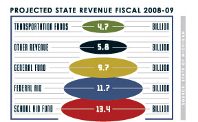 projected state revenue 2008-09