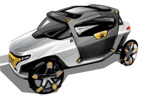 CCS student Filip Bosevski's interpretation of a modern-day Ford Model T.
