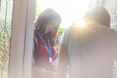 door-to-door outreach