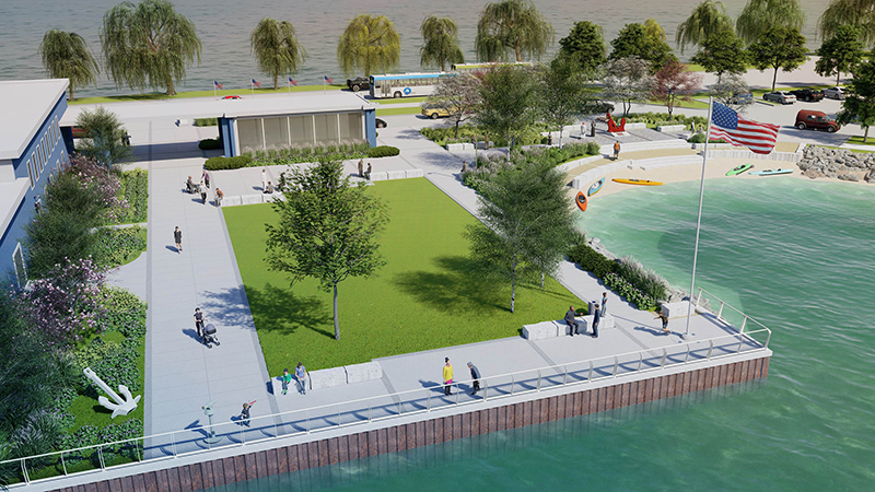 Dossin Great Lakes Museum upgrade rendering