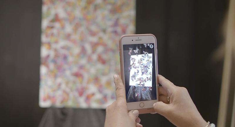 "Viewer using Reveal app to see ""Peta Louthias"" by Tim Yanke"