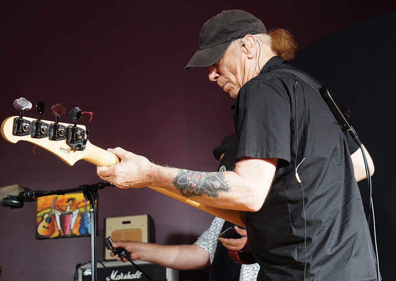 Musician using Back Beat