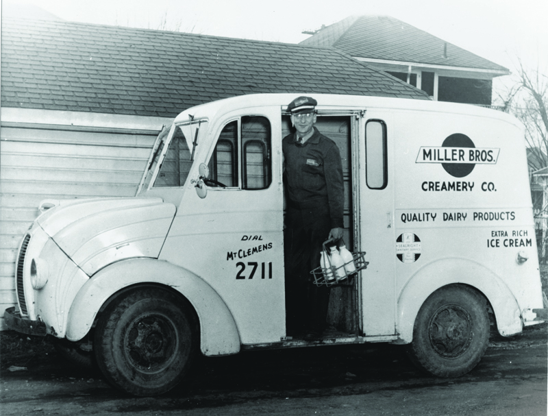 Miller Bros. Creamery Co. truck