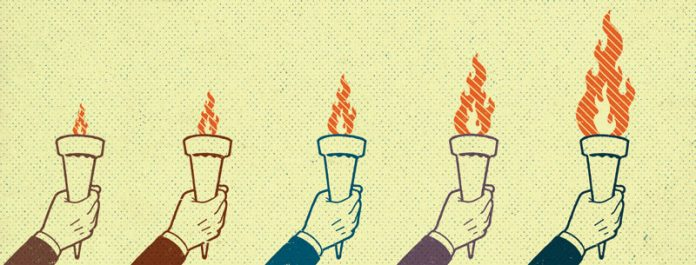 pass the torch illustration