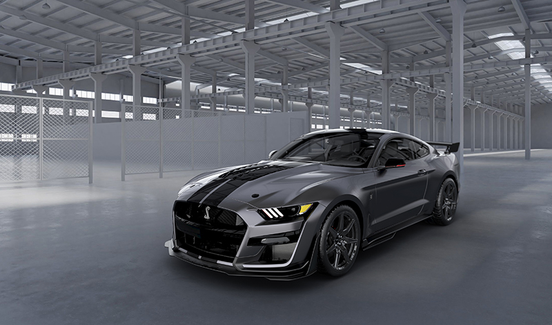 2020 Mustang Shelby GT500 rendering