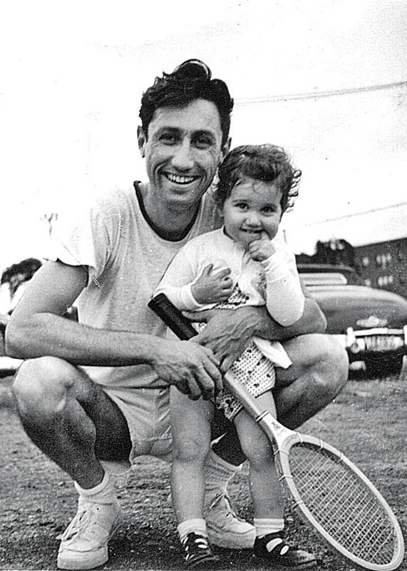Terry Axelrod with her father, Harry Goldberg