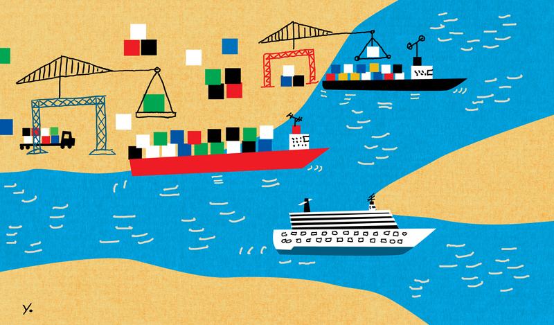 shipping illustration
