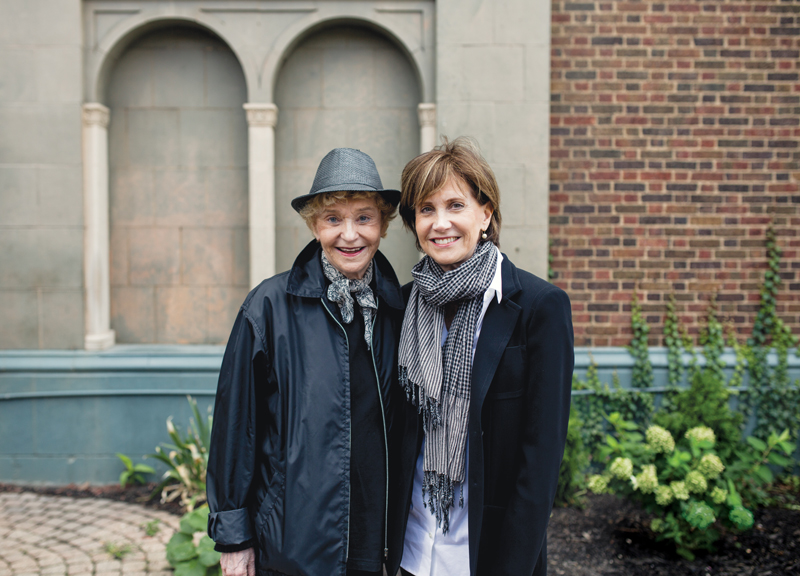 Terry Axelrod (right) and her mother, Betty Goldberg