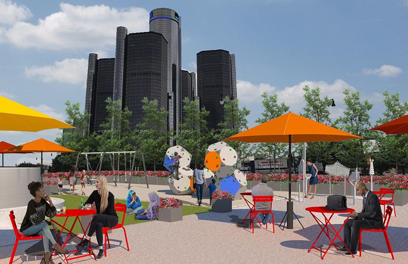 Spirit Plaza rendering