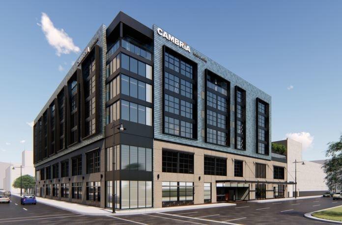 Cambria Hotel Detroit rendering
