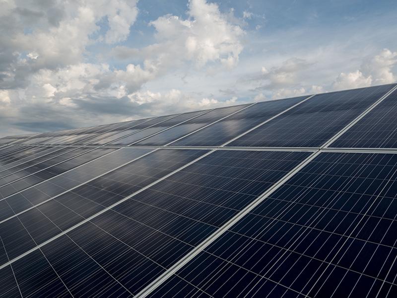 solar panels at Lapeer Solar Park