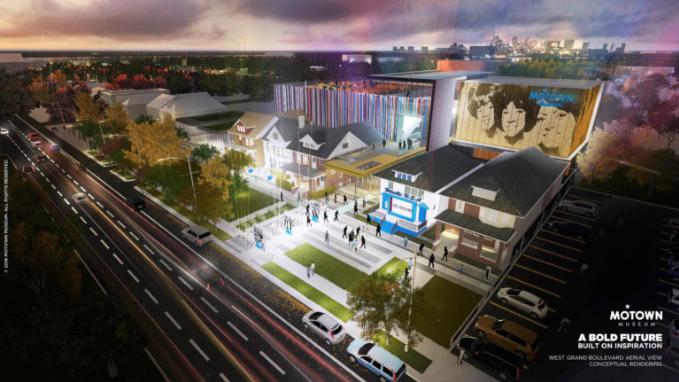 Motown Museum expansion rendering