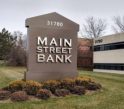 Main Street Bank sign