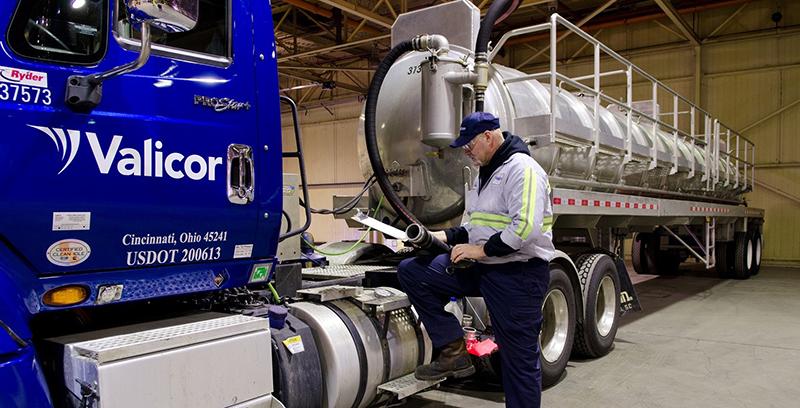 Valicor Environmental Services truck