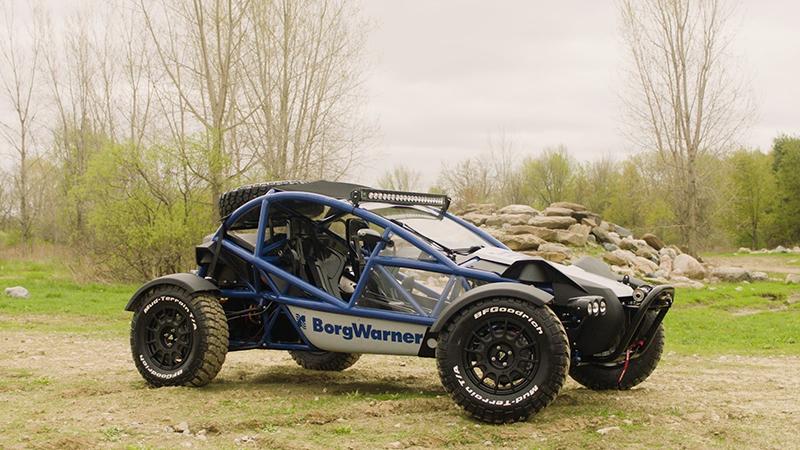 BorgWarner all-electric demonstration vehicle