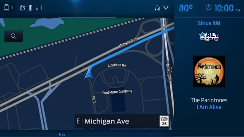map through Ford's Sync 4