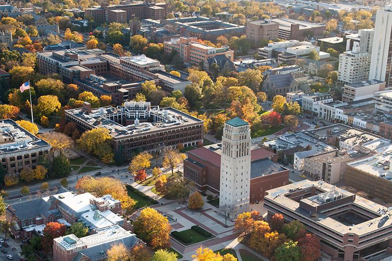 U-M aerial view