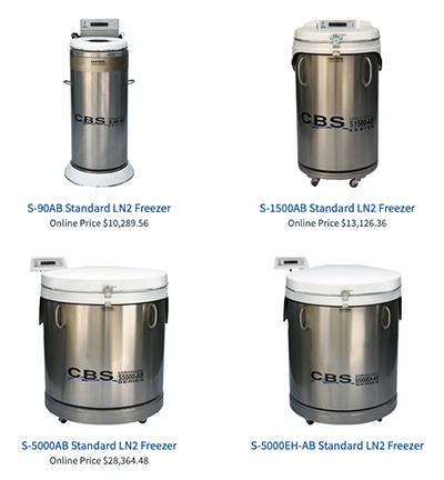 Custom Biogenic Systems standard liquid nitrogen freezers