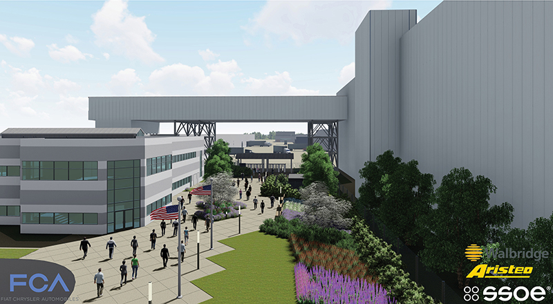 rendering of the Detroit Jeep plant