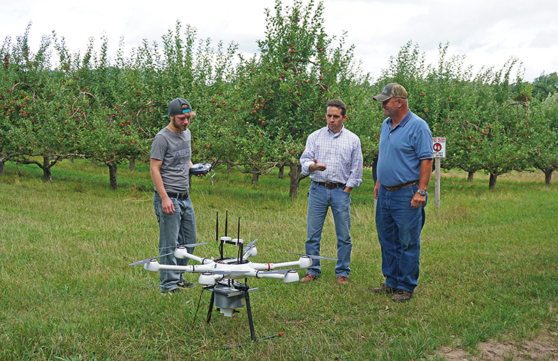 Dassay, Adams, and Smeltzer with drone