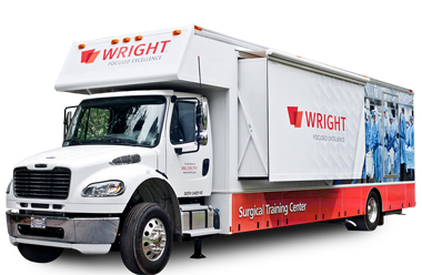 Wright Medical Group's mobile surgical training truck