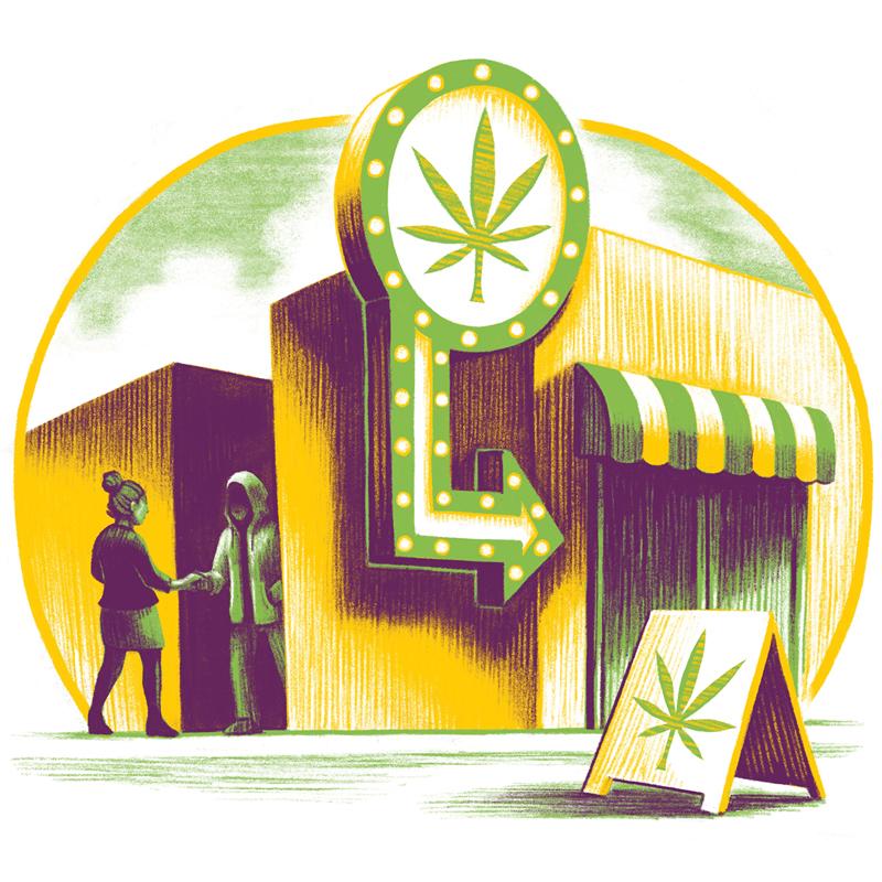 marijuana sale from an alley