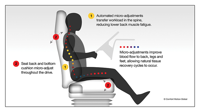 Comfort Motion Global motion seating diagram