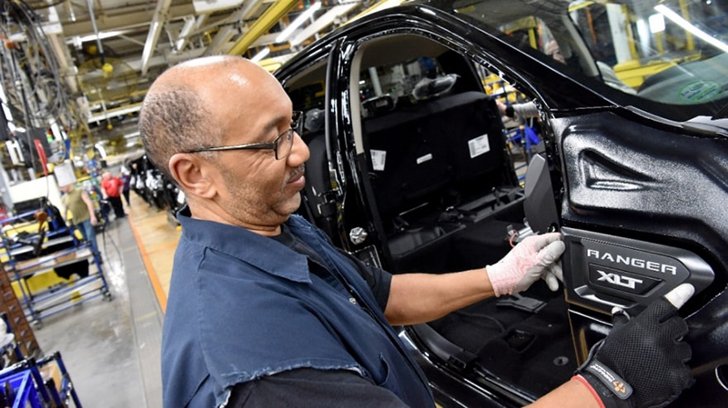 Ford assembly line worker