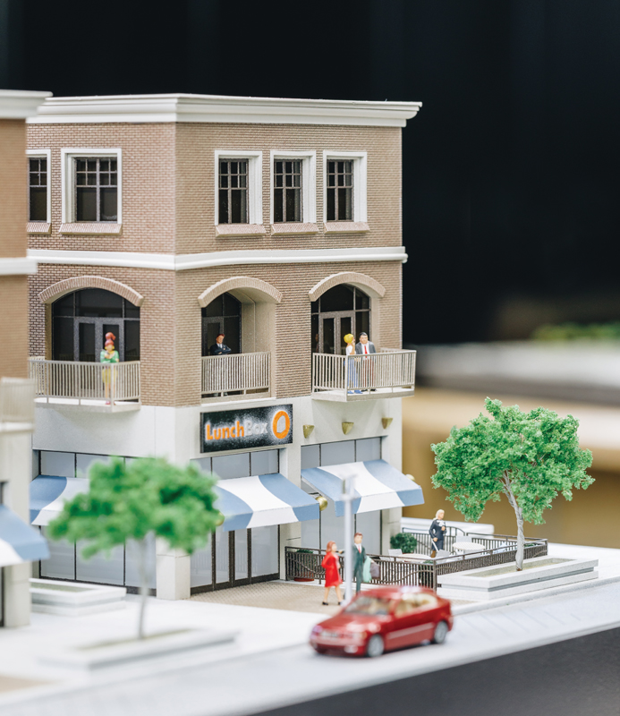 Zoyes Creative building and streetscape model