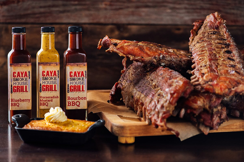 C.A.Y.A. Smokehouse Grill food