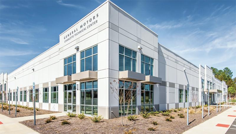 Rendering of GM's Technical Center near Charlotte
