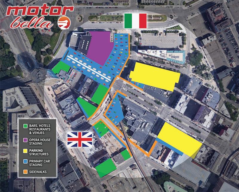 Motor Bella activities map