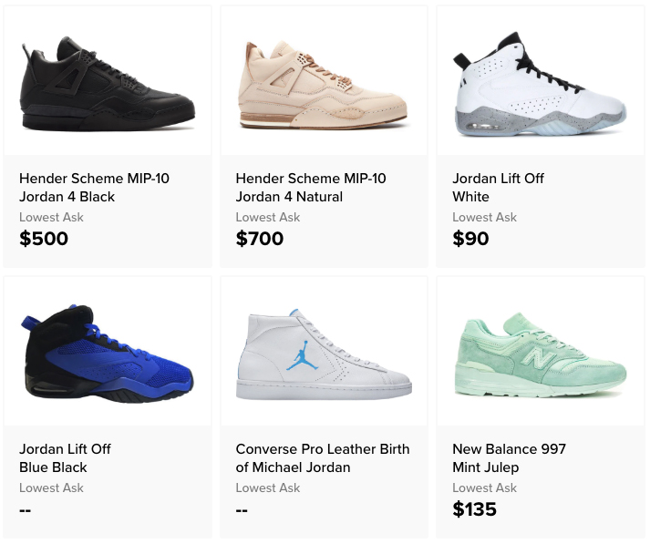 products on StockX