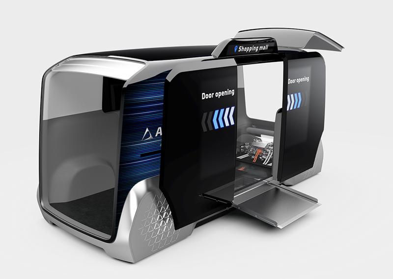 AISIN's i-mobility Type-C20 autonomous vehicle