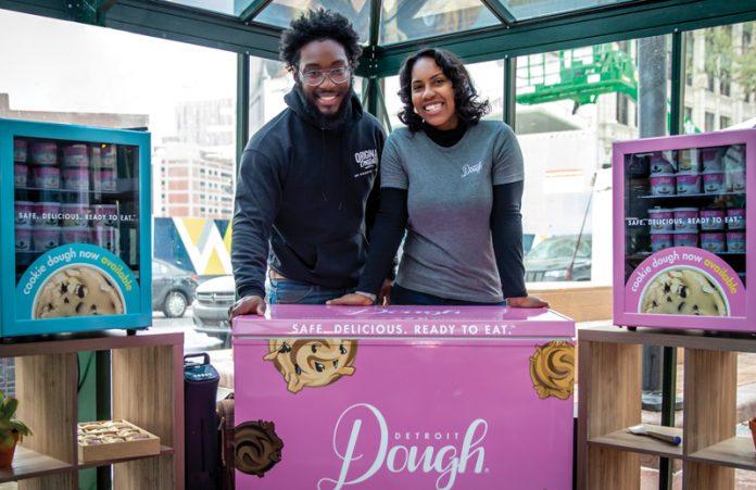 Daniel A. Washington and Victoria Washington at a Detroit Dough popup