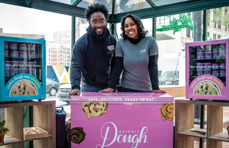 Daniel A. Washington and Victoria Washington at a Detroit Dough popup