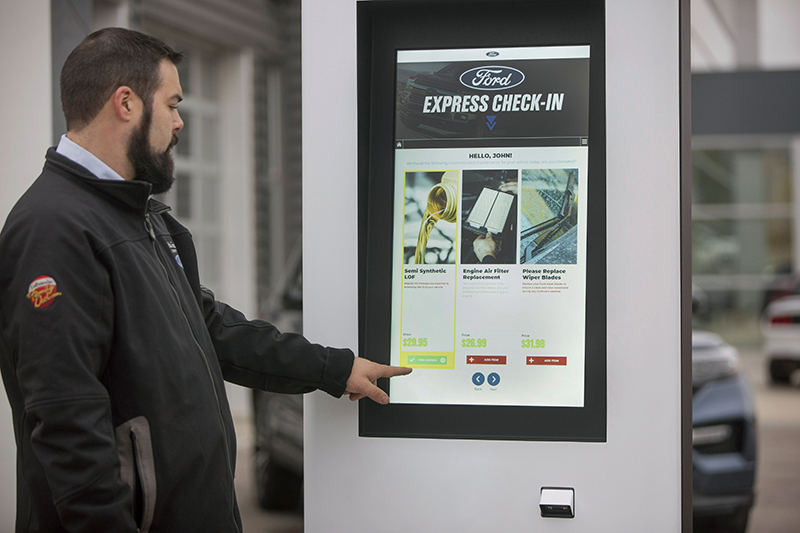 Ford kiosk at dealership