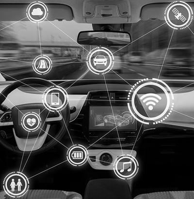 automotive cybersecurity illustration