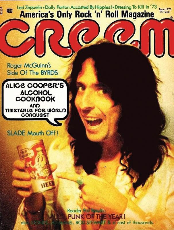 Alice Cooper on the June 1973 cover