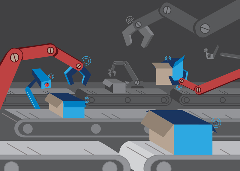 automated factory illustration