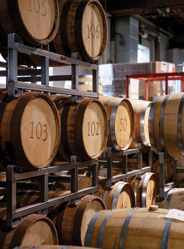 Ann Arbor Distilling Co. barrels