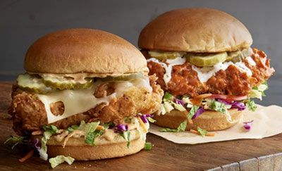 Buffalo Wild Wings sandwiches