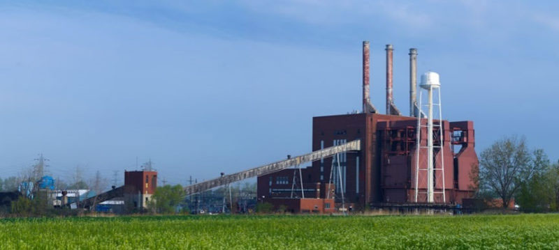 former Consumers Energy coal-fired power plant in Luna Pier