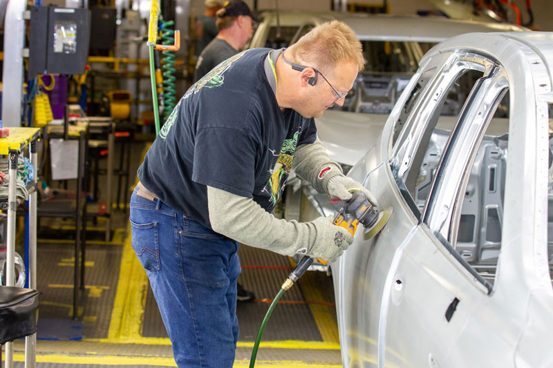 GM assembly line worker