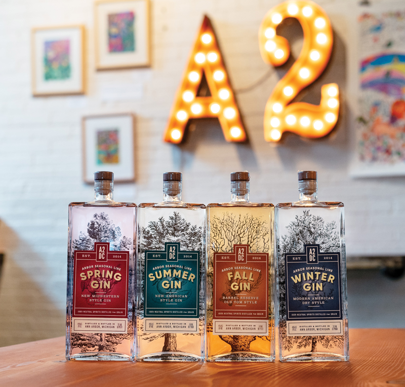 Ann Arbor Distilling Co. seasonal gin