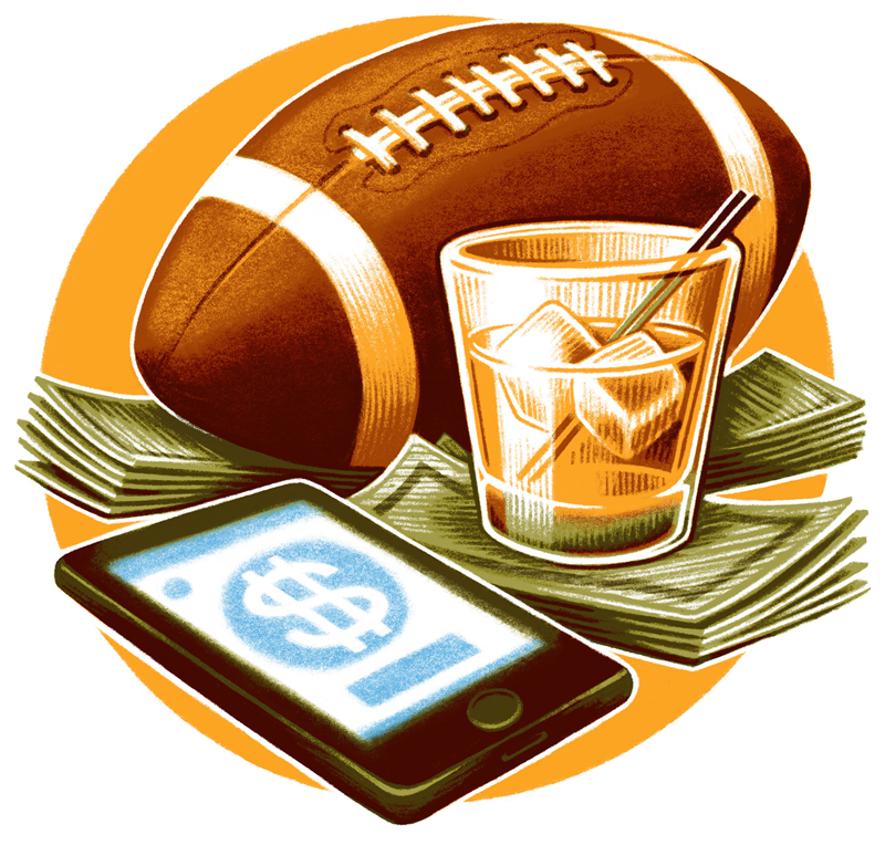 sports betting illustration