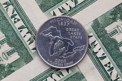 Michigan quarter on $20 bills