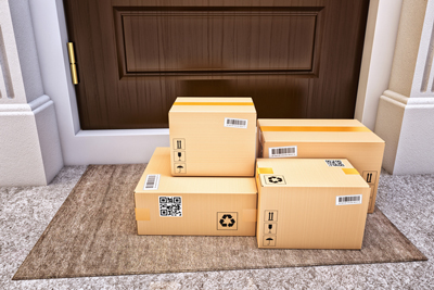 packages on front porch