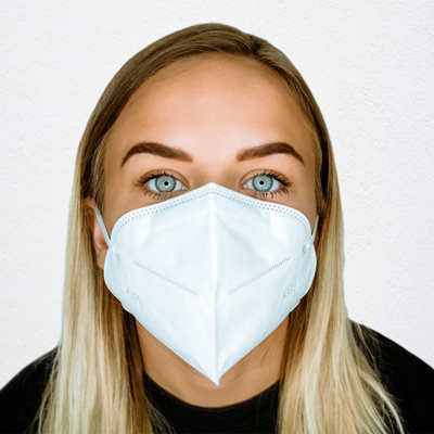 Woman wearaing mask